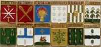 Комплект значков «Гербы городов Тульской губерния» (12 штук) (Тула)