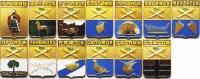 Комплект значков «Гербы городов Рязанской губерния» (13 штук) (Рязань)
