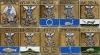 Комплект значков «Гербы городов Архангельской губерния» (10 штук) (Архангельск, Архангельская губерния)
