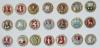 Золотое кольцо-10 (пуговицы) - комплект 21 шт (номер серии – 191)