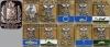 Комплект значков «Гербы городов Архангельской губерния» с большим губернским знаком (10+1 штук) (Архангельск, Архангельская губерния)